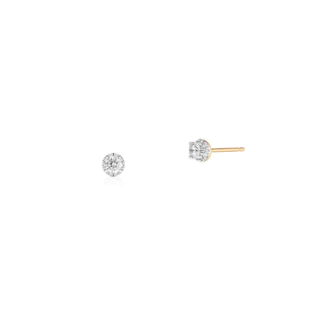 W.KRUK Kolczyki Złote – złoto 585, Brylant 0,37ct – ZCG/KB+995K