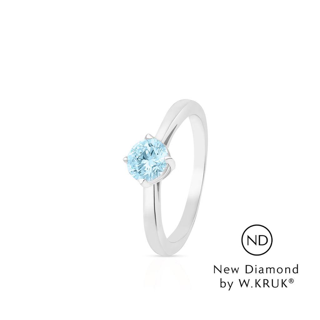 W.KRUK Piękny Złoty Pierścionek – złoto 750, New diamond by w.kruk 0,50ct – XWK/PB-11B