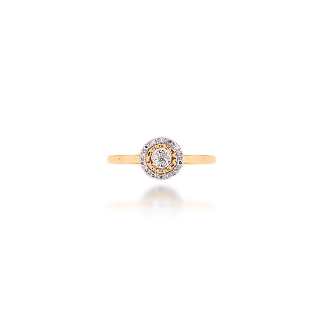 W.KRUK PROMOCJA Pierścionek Złoty – złoto 585, Diament 0,06ct – ZFX/PB+08BK