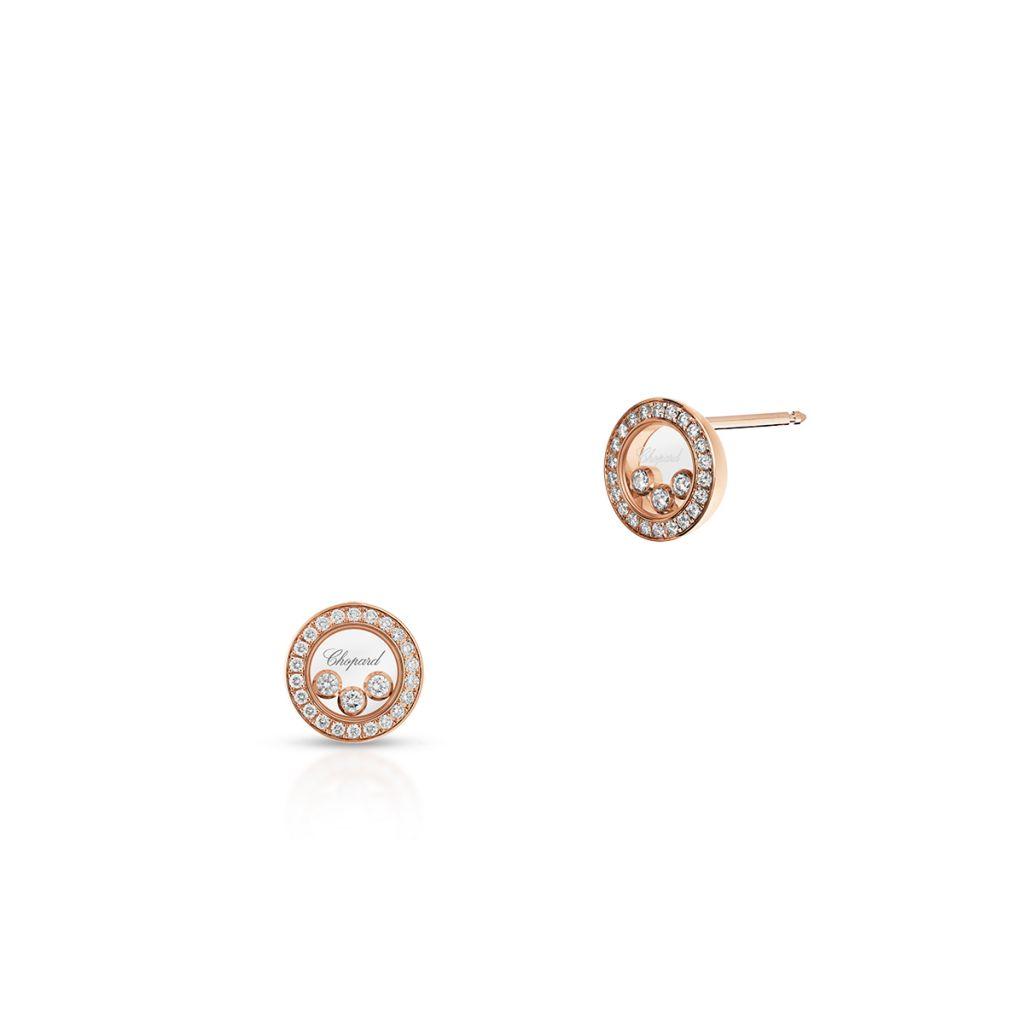 W.KRUK Kolczyki różowe złoto HAPPY DIAMONDS Chopard – ZPD/KB+04R0000