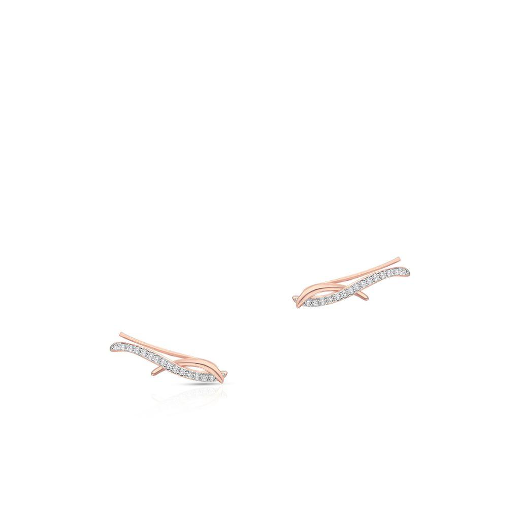 W.KRUK Srebrne Nausznice – srebro 925, Cyrkonia – SDL/KC307R