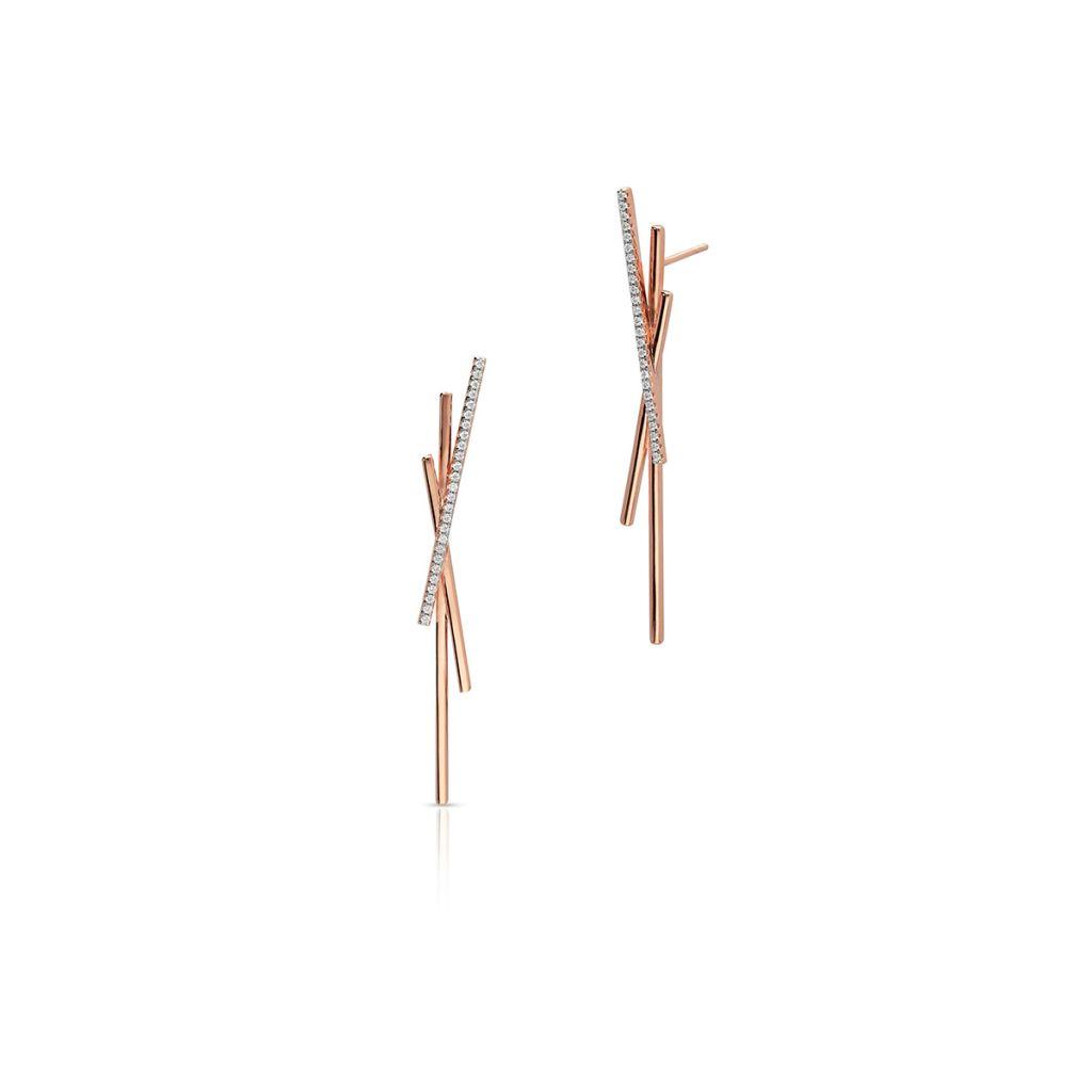 W.KRUK Wyjątkowe Srebrne Kolczyki – srebro 925, Cyrkonia – SDL/KC210R