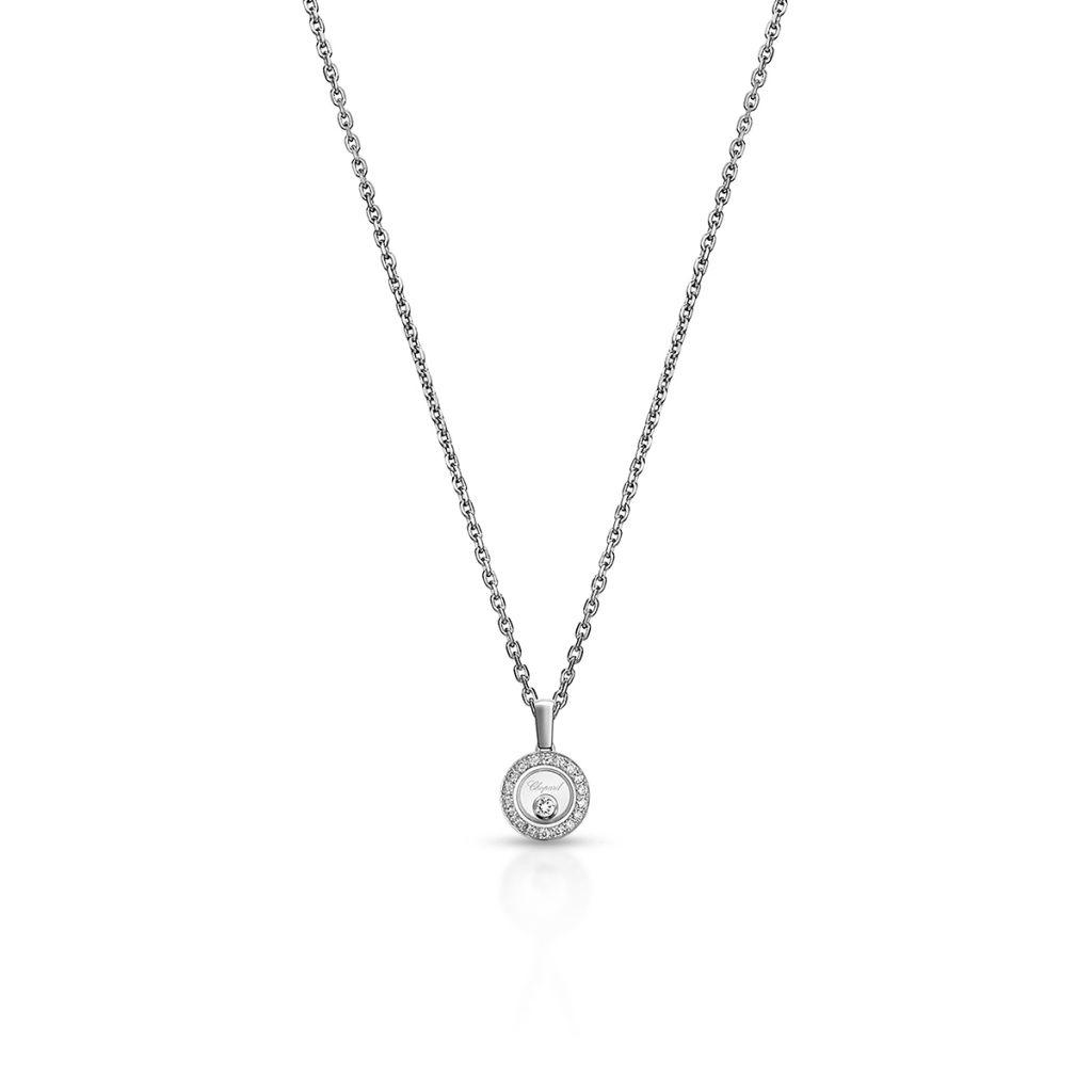 W.KRUK Naszyjnik białe złoto HAPPY DIAMONDS Chopard – ZPD/NB+25B0000