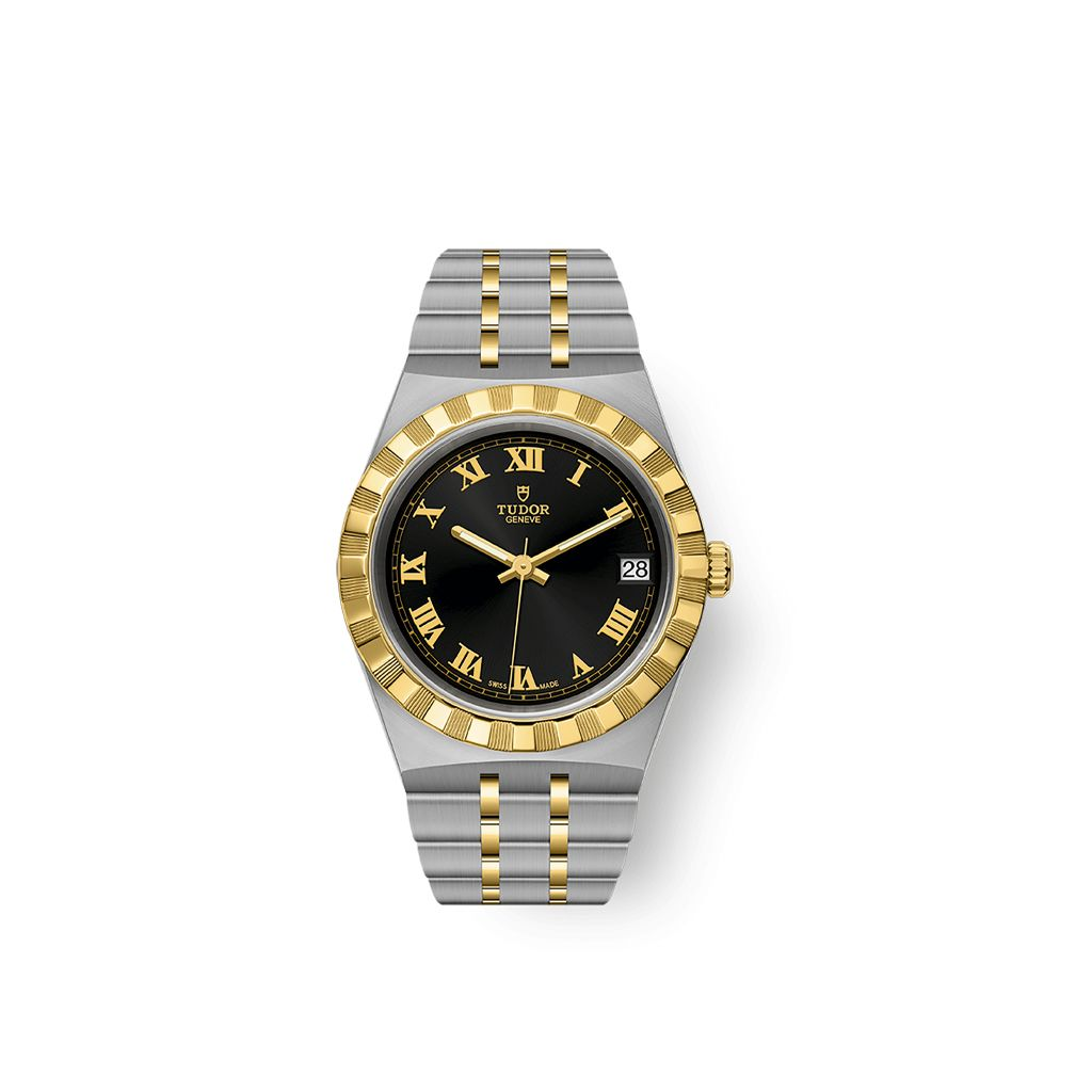TUDOR ROYAL 34MM 28403 91043 BLAC ROM Y