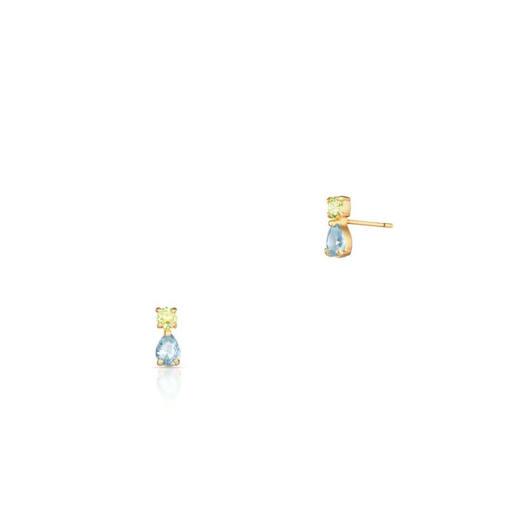 W.KRUK Złote Kolczyki – złoto 375, Cyrkonia – ZIH/KC194