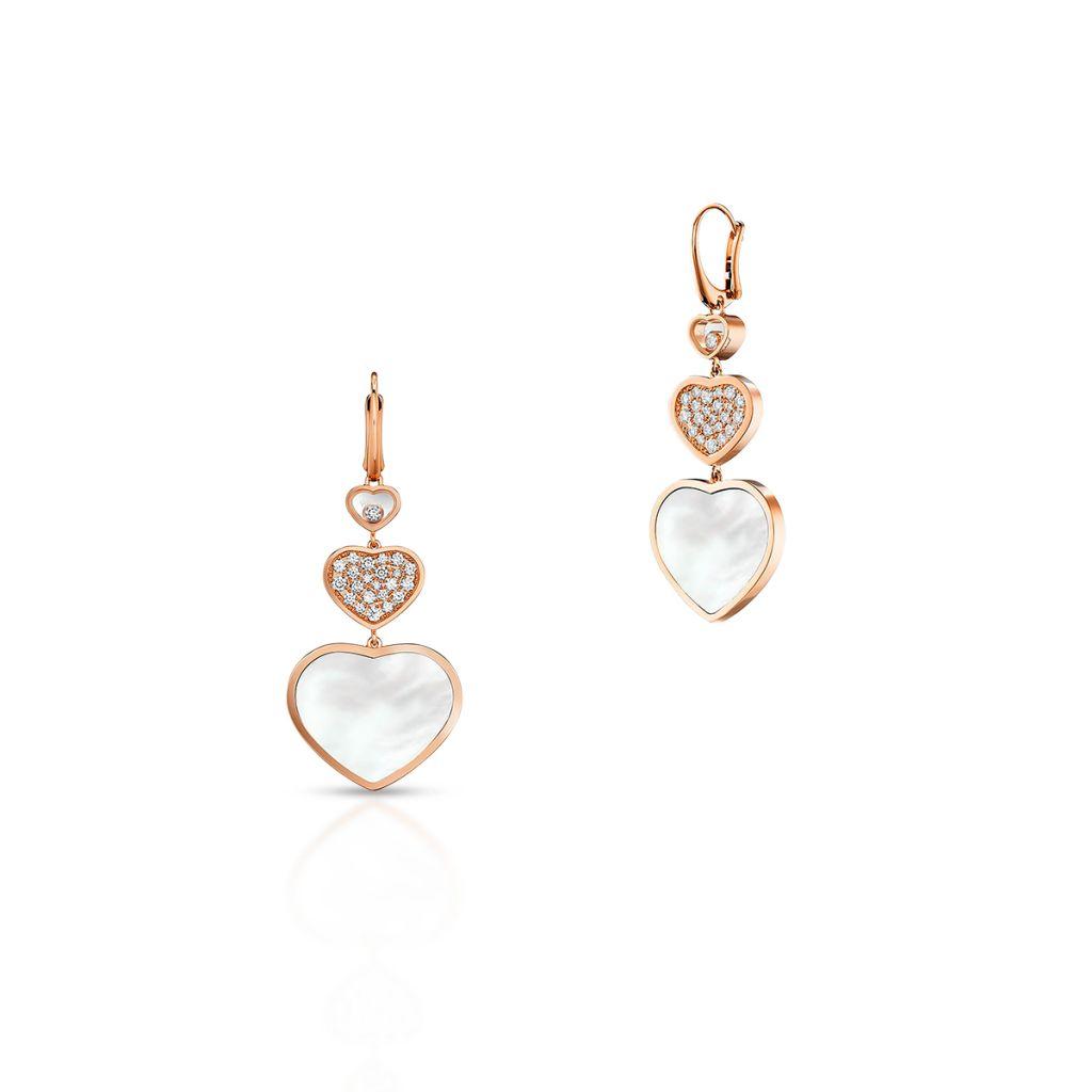 W.KRUK Kolczyki różowe złoto HAPPY HEARTS Chopard – ZPD/KB+37R0000