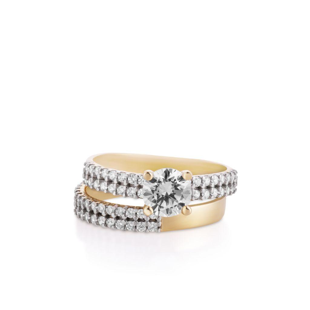 W.KRUK Złoty Pierścionek – złoto 333, Cyrkonia – ZBW/PC04BK