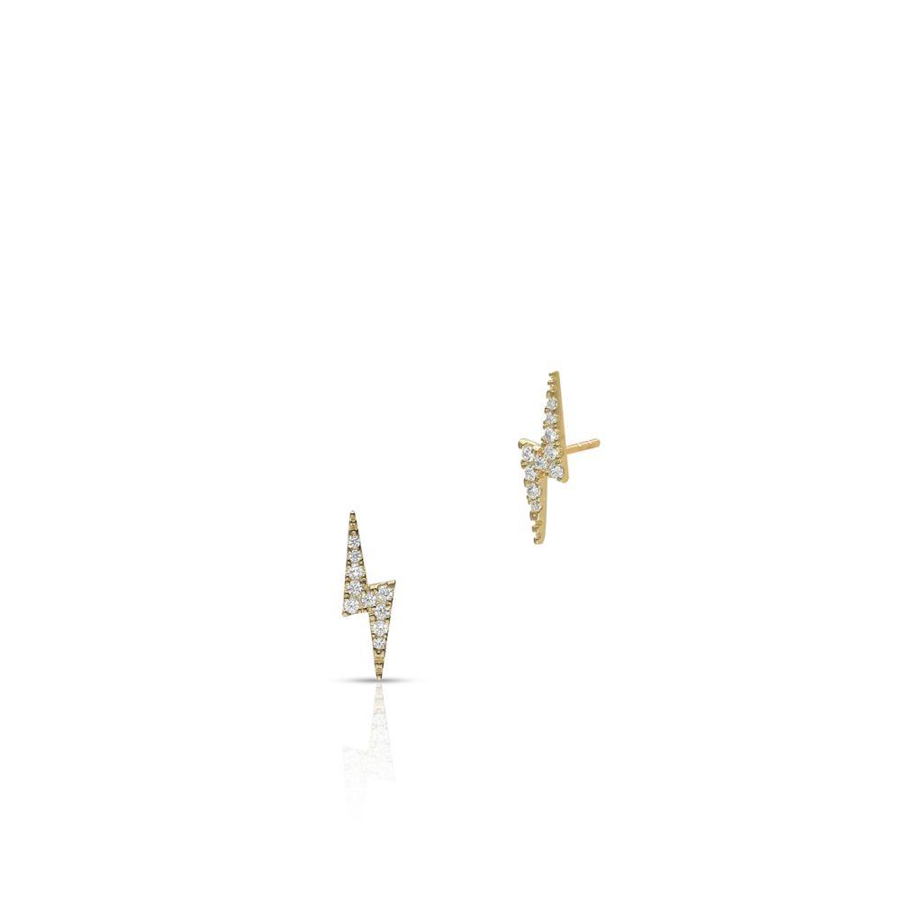 W.KRUK Złote Kolczyki – złoto 375, Cyrkonia – ZIH/KC90