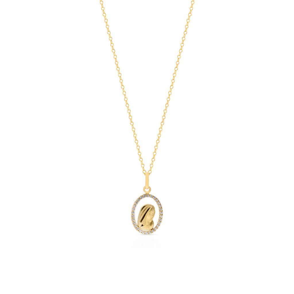 W.KRUK Wisiorek Złoty – złoto 585, Cyrkonia – ZIV/WC01
