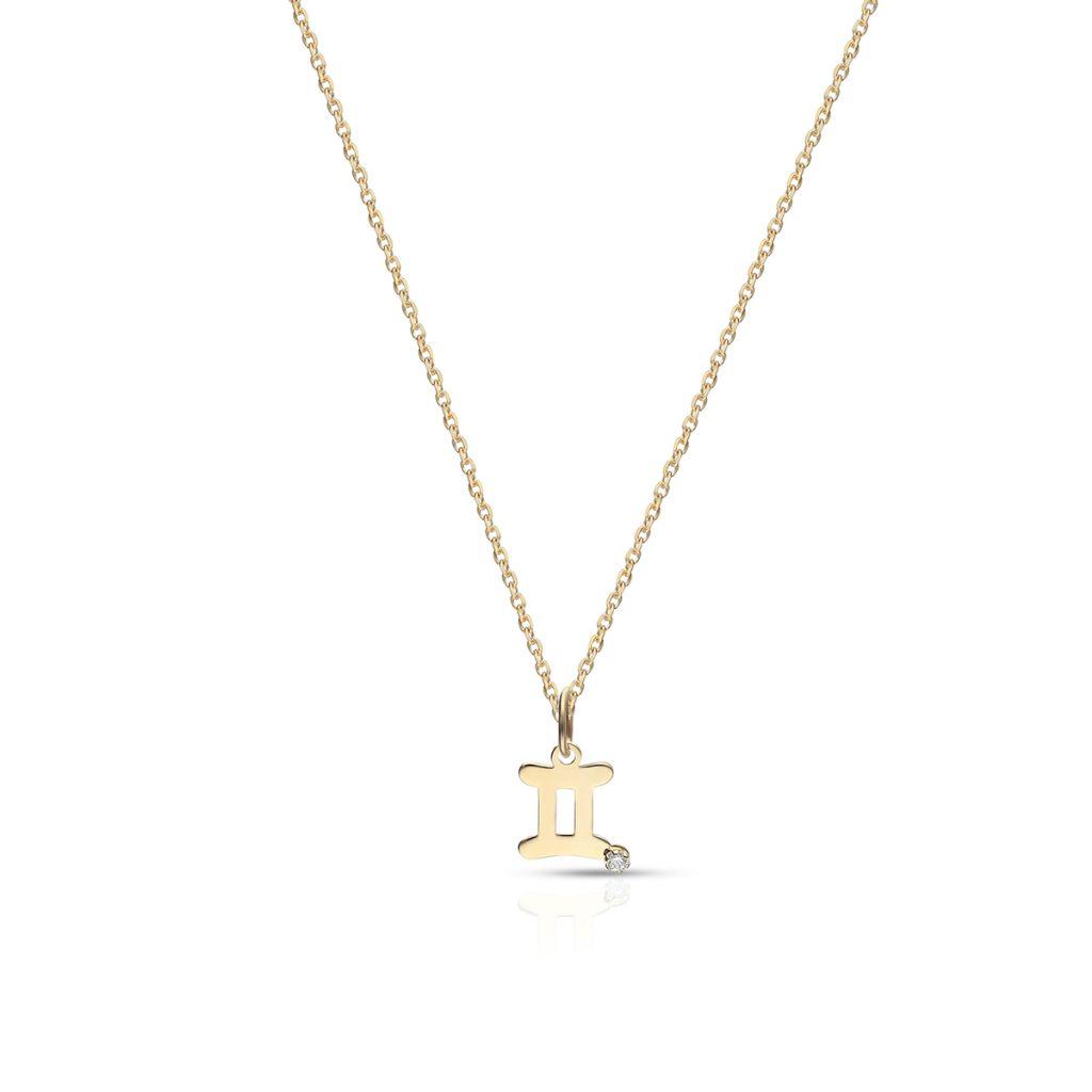 W.KRUK Wyjątkowy Wisiorek Złoty – złoto 375, Cyrkonia – ZUI/WC42