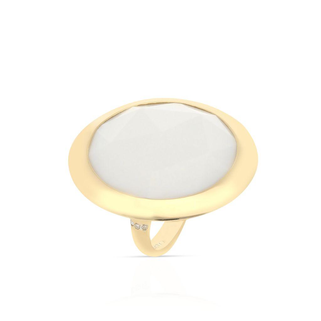 W.KRUK RABAT Pierścionek Złoty – złoto 750, Brylant 0,06ct , opal – ZTT/PB+36R