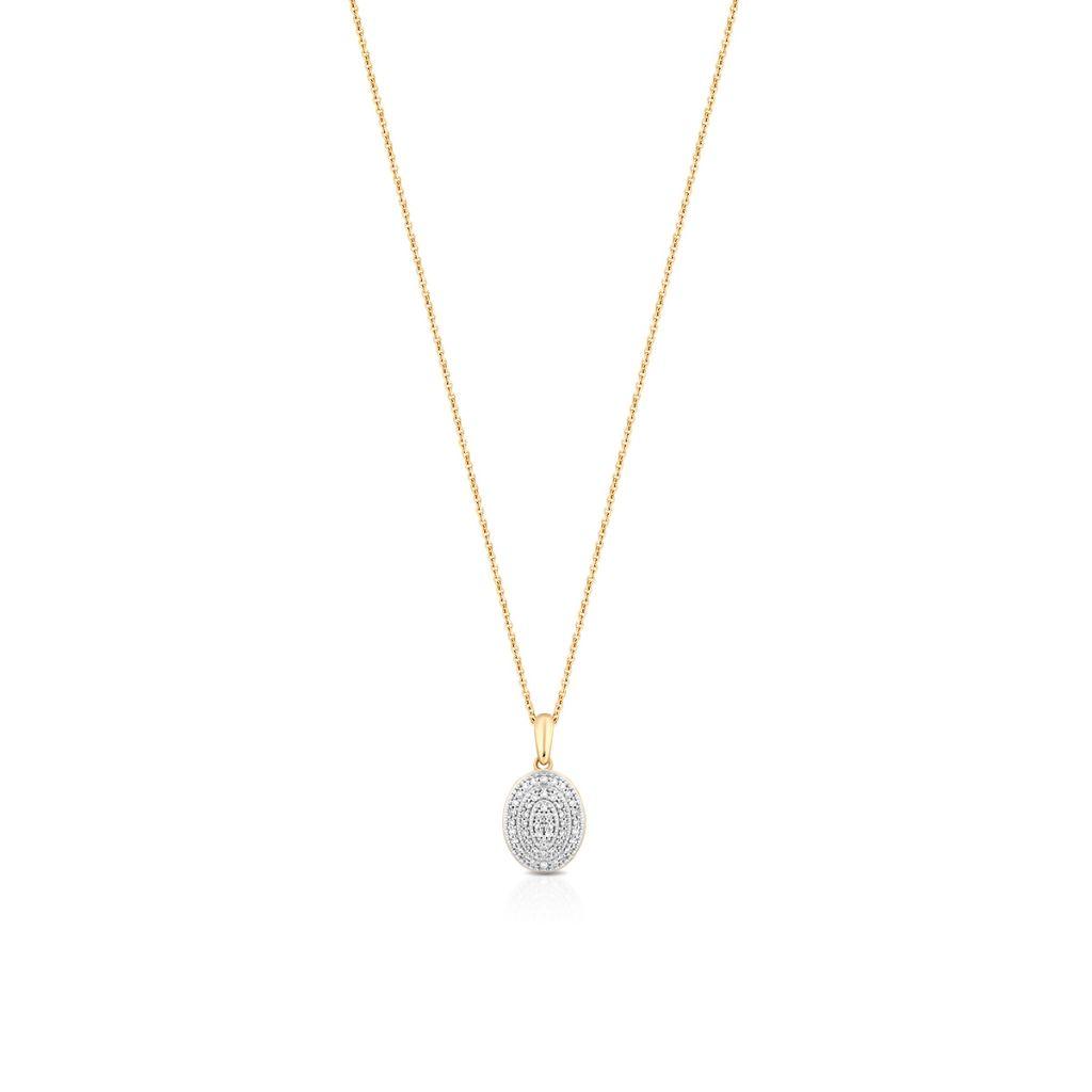 W.KRUK Wyjątkowy Złoty Wisiorek – złoto 585, Diament 0,14ct – ZCG/WB+998K