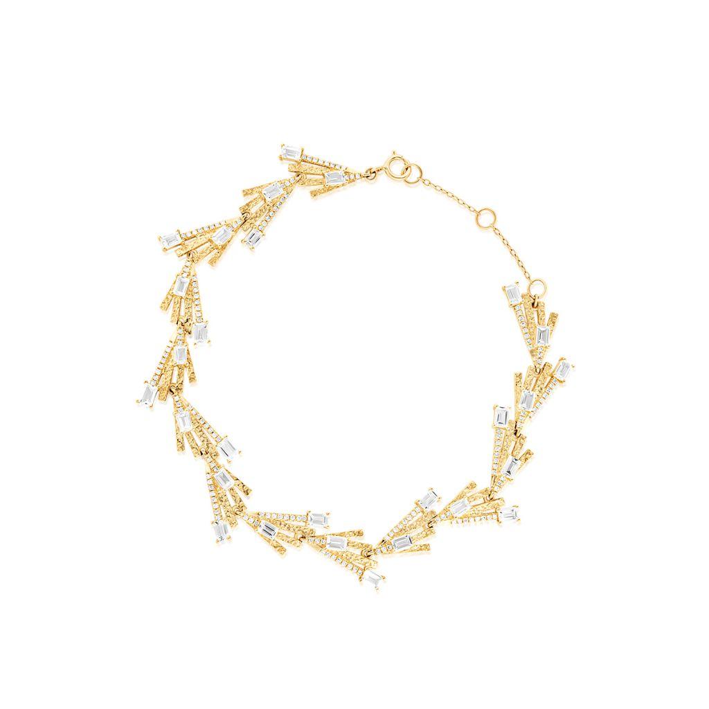 W.KRUK Złota Bransoletka – złoto 375, Diament 0,33ct,biały topaz – ZDL/AB+43