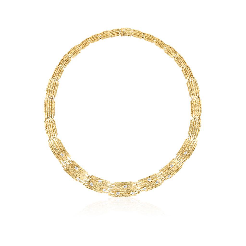 Wspaniały Naszyjnik - złoto 585, Biały topaz