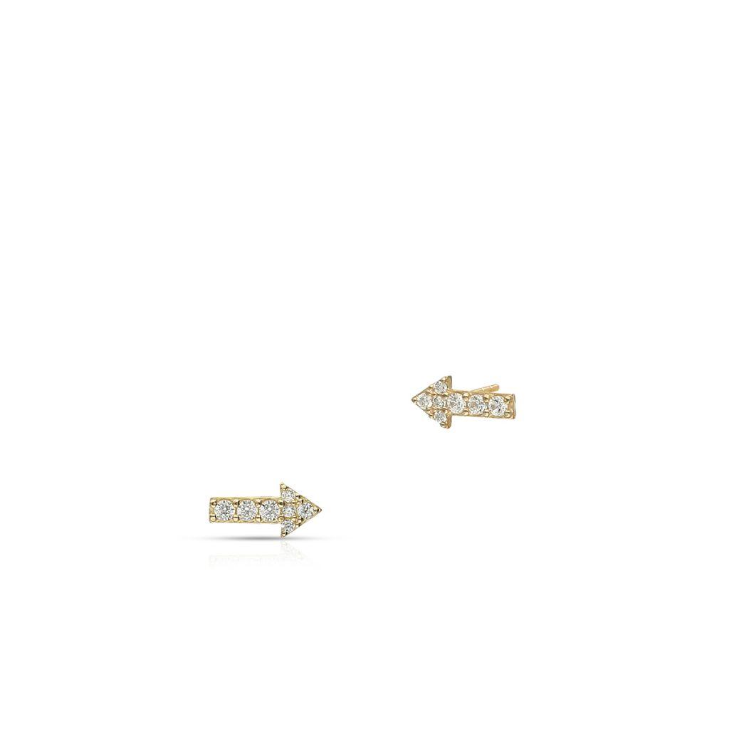 W.KRUK Złote Kolczyki – złoto 375, Cyrkonia – ZIH/KC22