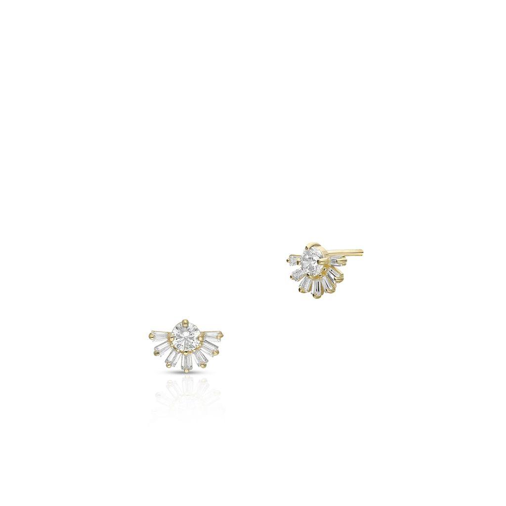 W.KRUK Unikalne Kolczyki Złote – złoto 375, Cyrkonia – ZIH/KC105