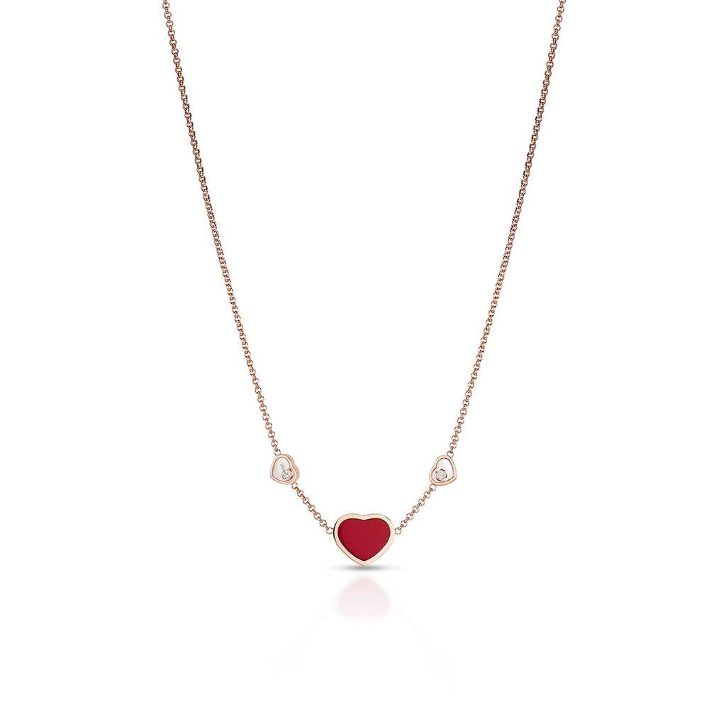 W.KRUK Naszyjnik różowe złoto HAPPY HEARTS Chopard – ZPD/NB+24R0000