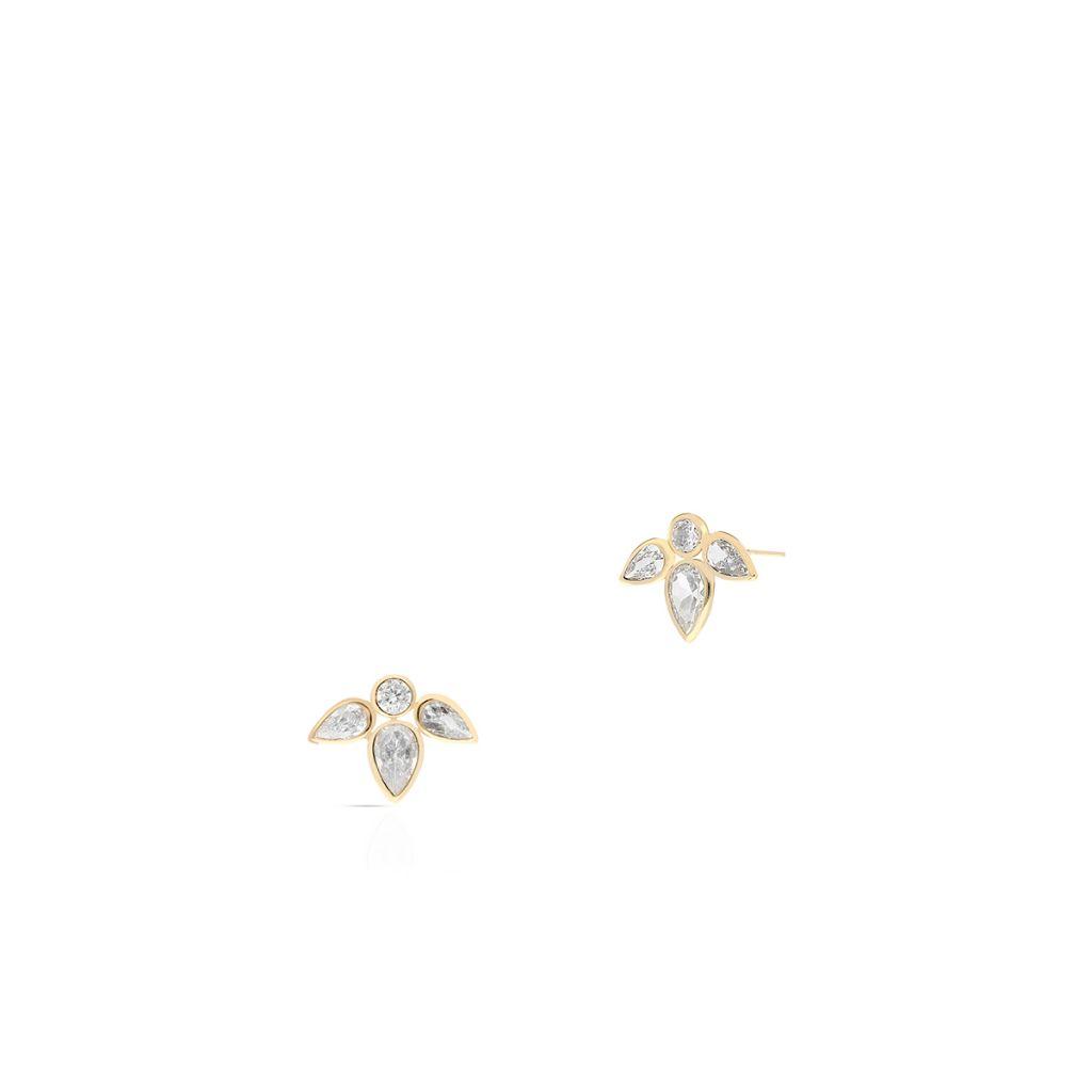 W.KRUK Wspaniałe Kolczyki Złote – złoto 375, Cyrkonia – ZUI/KC28
