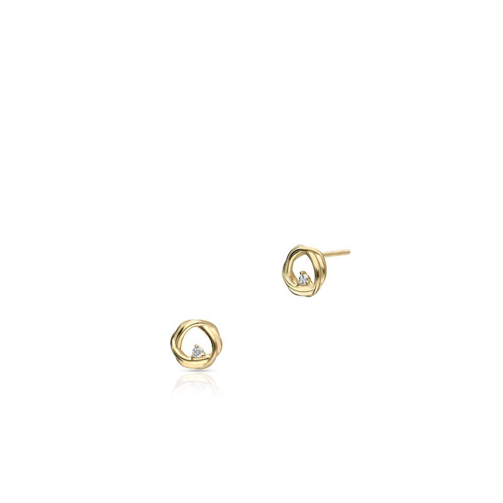 W.KRUK Unikalne Kolczyki Złote – złoto 375, Cyrkonia – ZIO/KC233